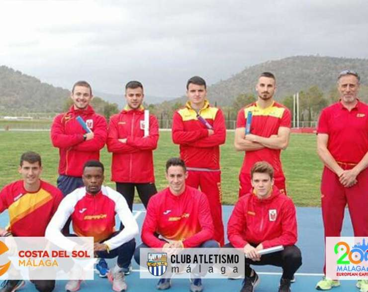 Javier Troyano concentrado con la selección española de relevo