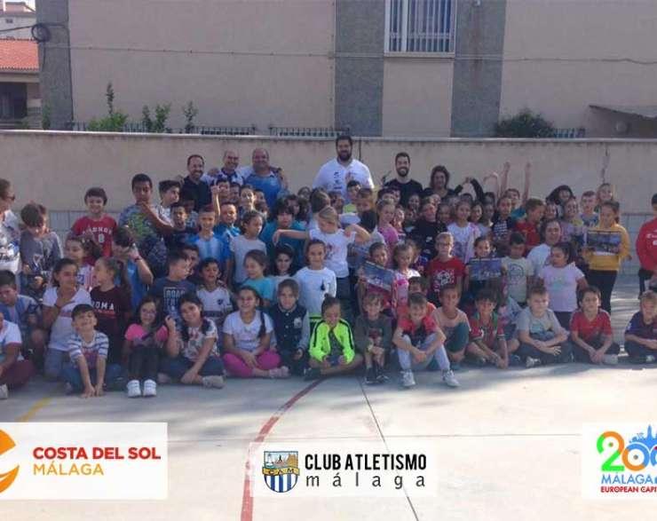 Visita de Borja Vivas y Tomás Fernández al Colegio Hernández Cánovas