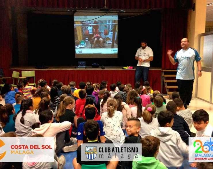El Programa de Fomento del Atletismo visita a los alumnos del CP Doctor Fleming