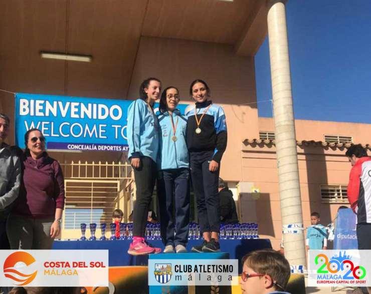 Julia Moreno 3ª Juvenil y el equipo Senior 2º en el Cross de Coín