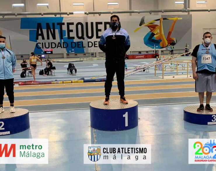 Borja Vivas campeón de Andalucía indoor en lanzamiento de peso