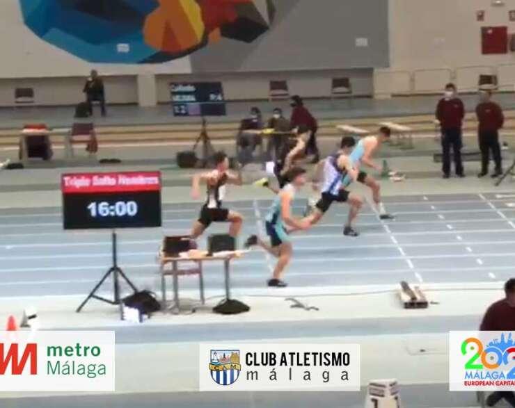 Alfonso Martínez 2º en 60 m vallas en el Cto. de Andalucía sub20