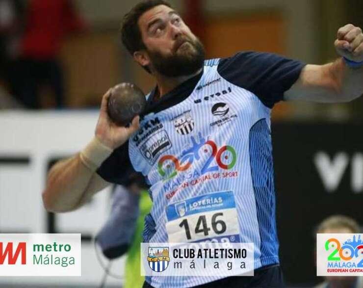 Borja Vivas 2º en lanzamiento de peso en el Cto. de España Absoluto Indoor