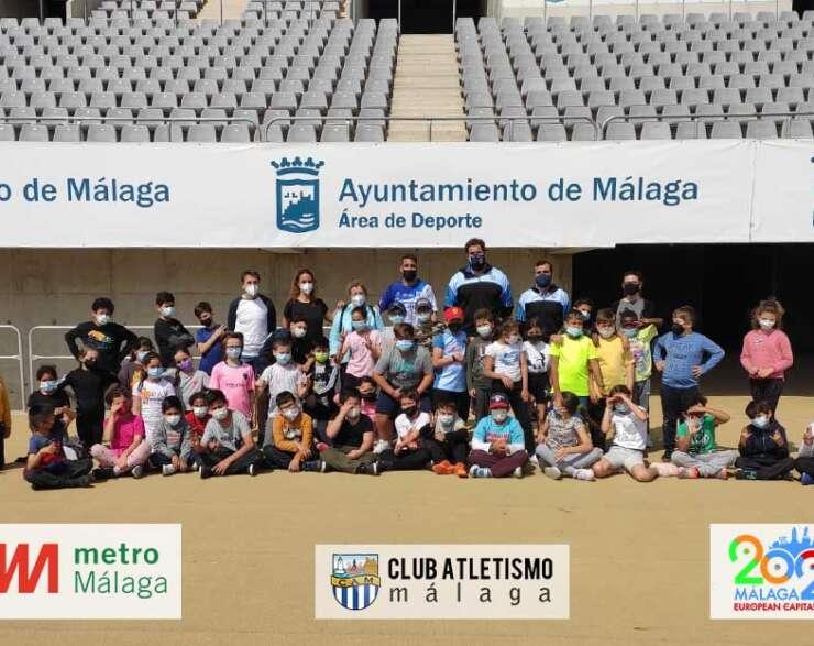 El colegio Luis Braille visita el estadio Ciudad de Málaga
