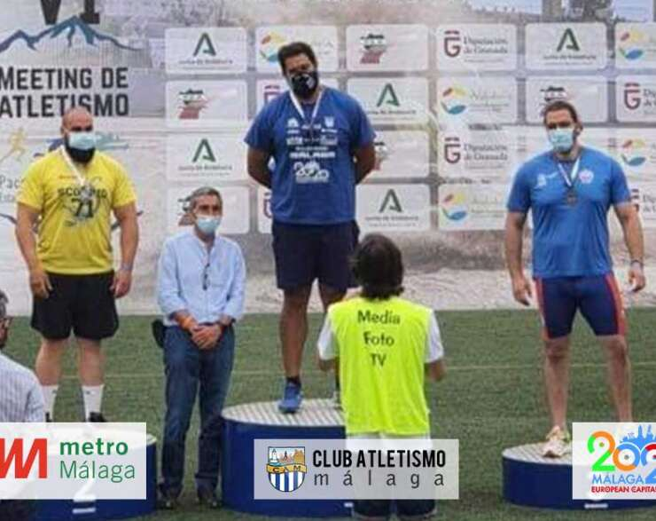 Borja Vivas campeón de lanzamiento de peso en el VI Meeting de Granada