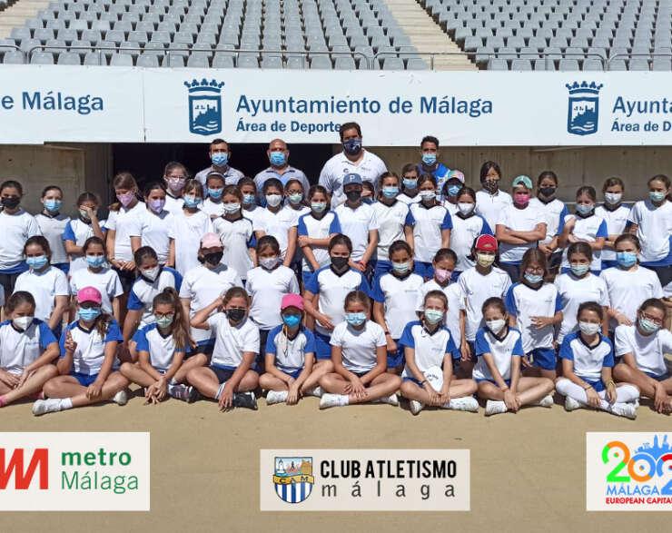 El Colegio Sierra Blanca visita el Estadio Ciudad de Málaga